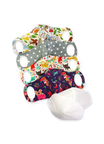 Comfort Face Mask 4 Pack size XS + 2 nanofibre filters