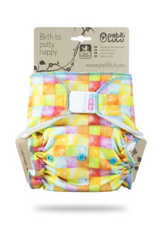Colourful Cubes- One Size Nappy (Hook & Loop)