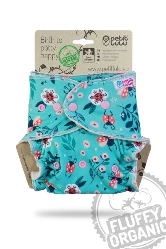 Ladybirds in the Meadow - One Size Nappy (Snaps)