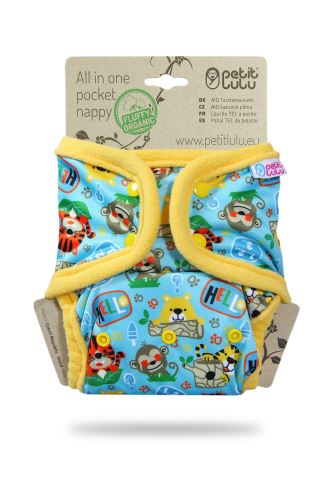 School Jungle - All In One Pocket Nappy (Snaps)