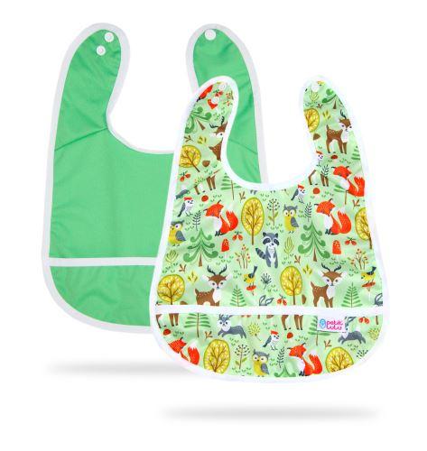 Green, Forest Animals - Bib +3m 2 Pack