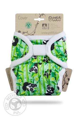 Panda Bears - One Size Prefold Cover (Hook & Loop)