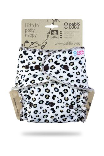 Spots on White - One Size Nappy (Snaps)