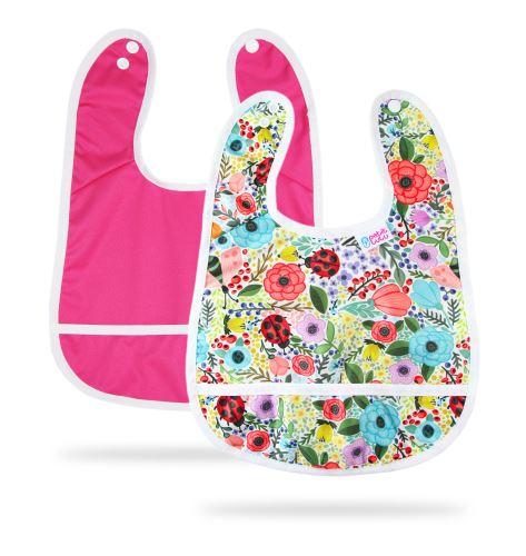 Pink, Blooming Garden - Bib +3m 2 Pack