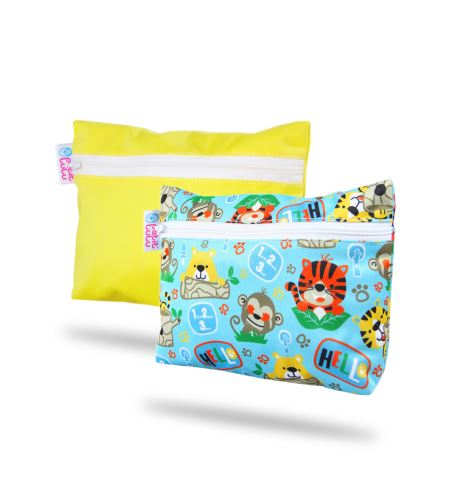 Yellow, School Jungle - Small Wetbag 2 Pack