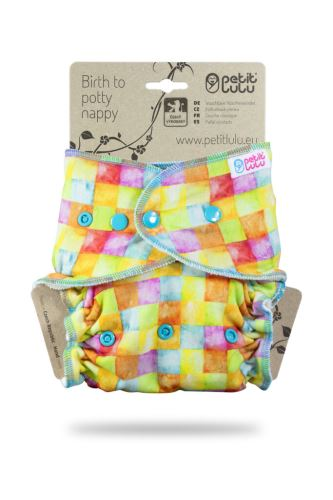 Colourful Cubes - One Size Nappy (Snaps)