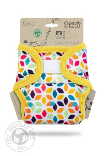 Floral Cubes - One Size Prefold Cover (Hook & Loop)