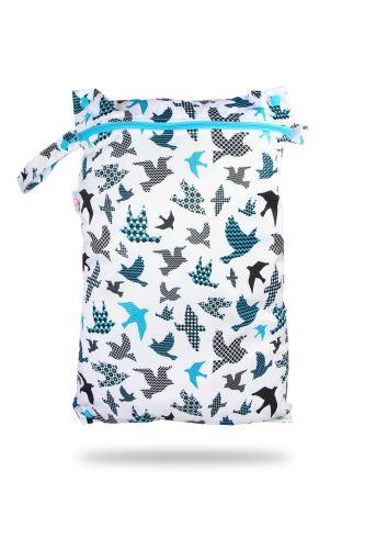 Turquoise Birds - Nappy Bag