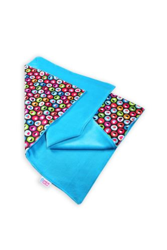 Colorful Hearts (turquoise) - Changing Mat