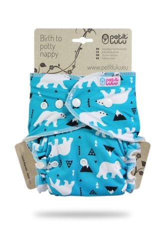 Second quality Polar Bears - One Size Nappy (Snaps) - print fault