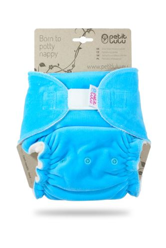 Turquoise (velour) - Maxi Night Nappy (Hook & Loop)