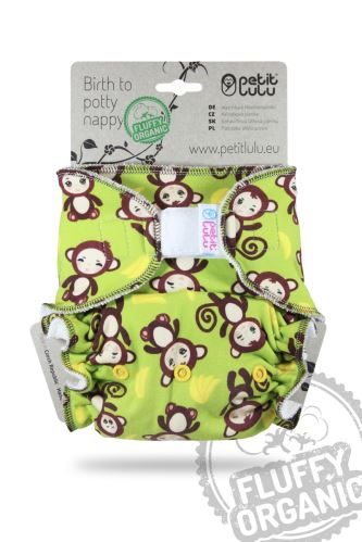 Monkey Business - One Size Nappy (Hook & Loop)