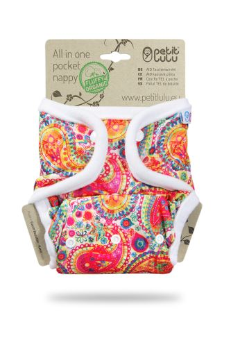 Colourful Orient - All In One Pocket Nappy (Snaps)
