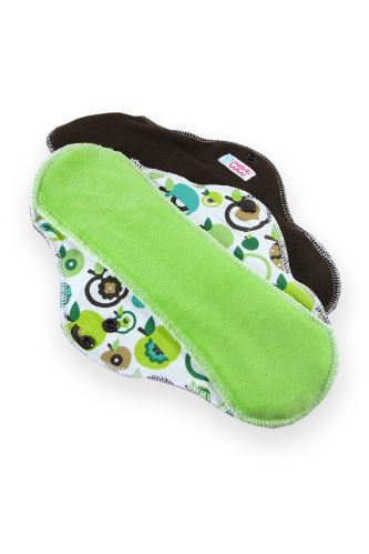 Second quality -  Apples (green) - Cloth pad ULTRA (CLASSIC) - Cloth pad ULTRA 1 pc - material fault
