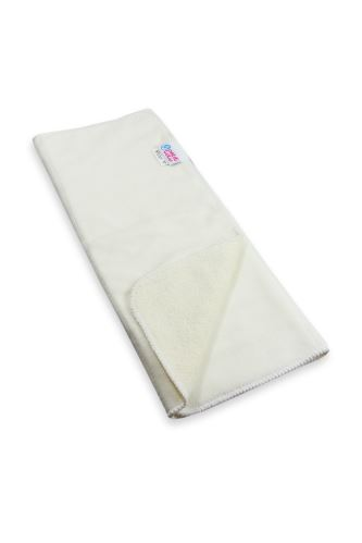 Second quality Beige Prefold - dark thread in the material