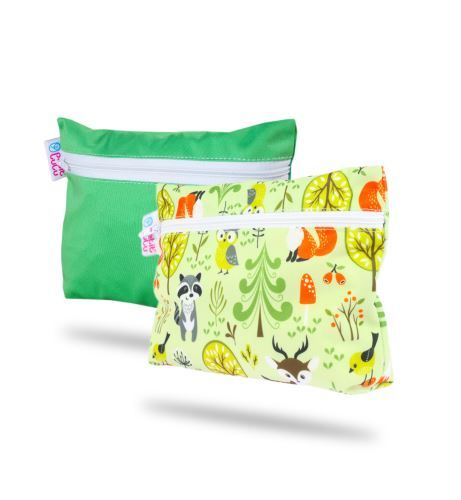 Green, Forest Animals - Small Wetbag 2 Pack