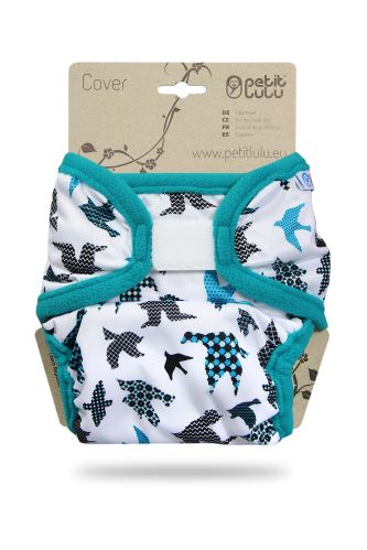 Second quality Turquoise Birds - XL Cover - small holes