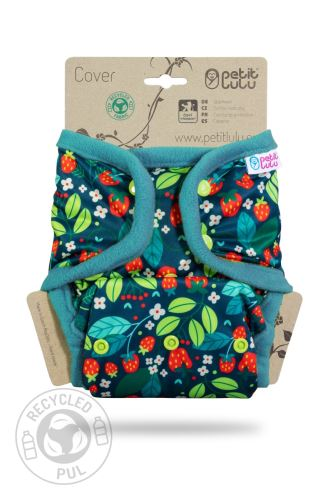 Wild Strawberries - One Size Prefold Cover (Snaps)