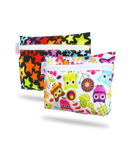 Rainbow Stars, Happy Owls - Small Wetbag 2 Pack