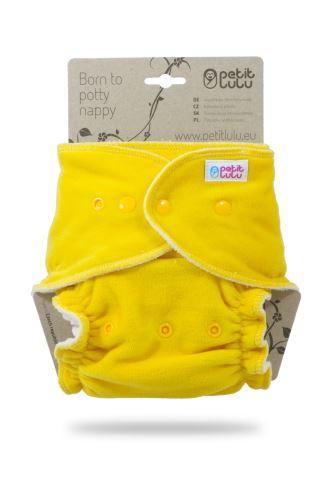 Yellow (velour) - Maxi Night Nappy (Snaps)