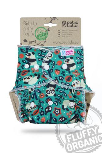 Faddy Pandas - One Size Nappy (Snaps)
