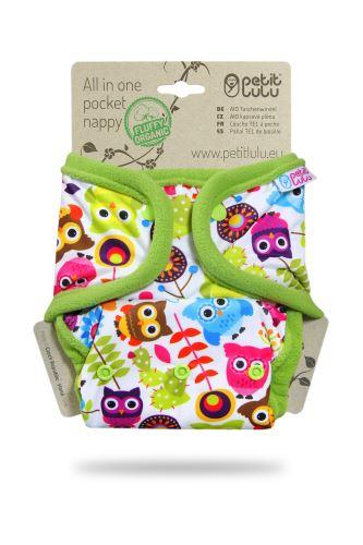 Happy Owls - Pocket Nappy (Snaps)