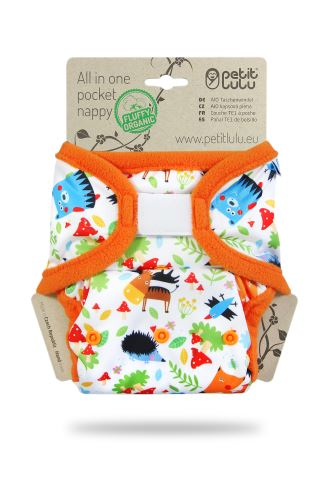 Crazy Animals - All In One Pocket Nappy (Hook & Loop)