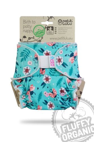 Ladybirds in the Meadow - One Size Nappy (Hook & Loop)