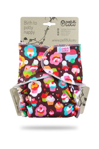 Cupcakes - One Size Nappy (Snaps)