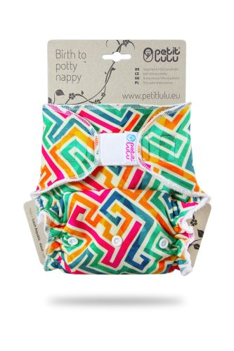 Second quality Labyrinth - One Size Nappy (Hook&Loop) - sewn hole on the terry cloth