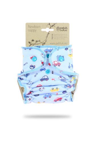 Cars On Grey - Newborn Nappy