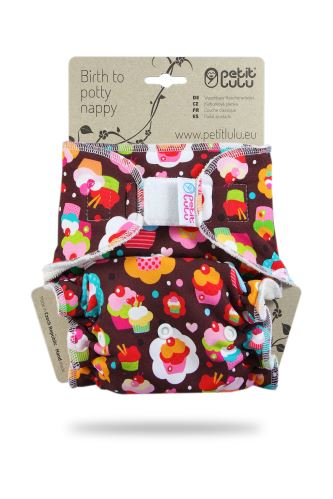 Cupcakes - One Size Nappy (Hook & Loop)