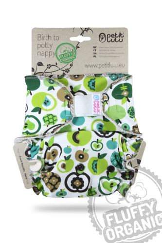 Apples (green) - One Size Nappy (Hook & Loop)