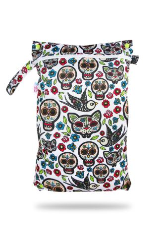 Mexican Skulls (on white) - Nappy Bag