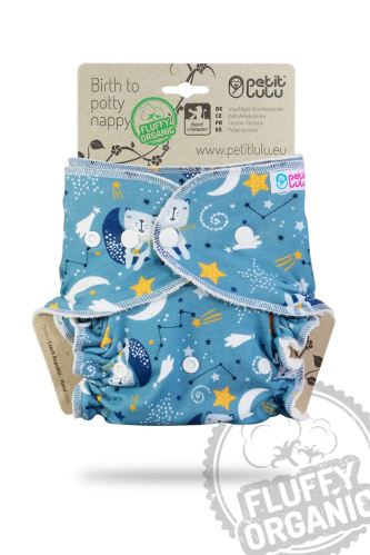 Bears on the Moon - One Size Nappy (Snaps)