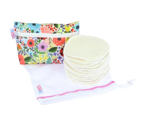 Set - Breast Pads 6 pairs + Small Wetbag + Mesh Laundry Bag