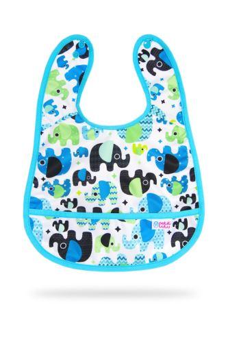 Baby Elephant (blue) - Bib +3m