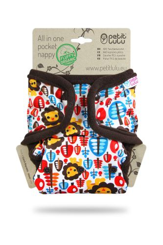 King of the Jungle - All In One Pocket Nappy (Snaps)