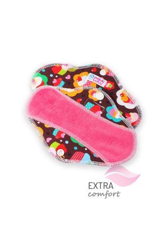 Cupcakes - Cloth pad SLIP (SLIM)