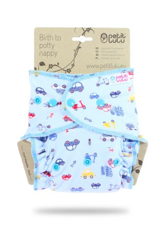 Second quality Cars On Grey - One Size Nappy (Snaps) -  stains on outer layer