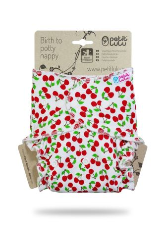 Sweet Cherries - One Size Nappy (Snaps) - faulty print