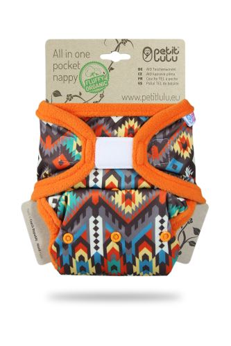 Ethno - All In One Pocket Nappy (Hook & Loop)