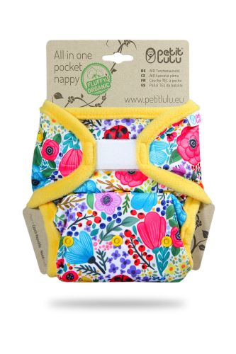 Second quality Blooming Garden - All In One Pocket Nappy (Hook & Loop) - small holes
