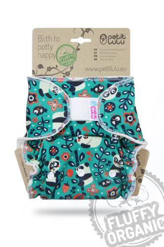 Faddy Pandas - One Size Nappy (Hook & Loop)