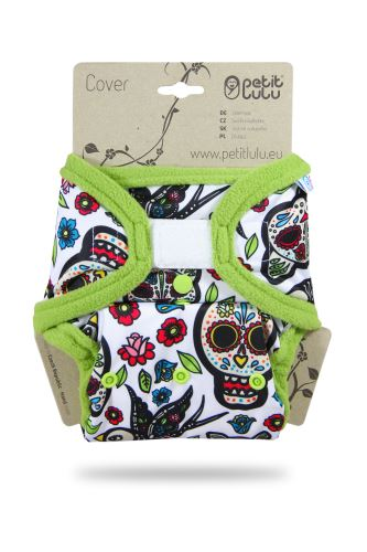 Mexican Skulls (on white) - One Size Cover (Hook & Loop)
