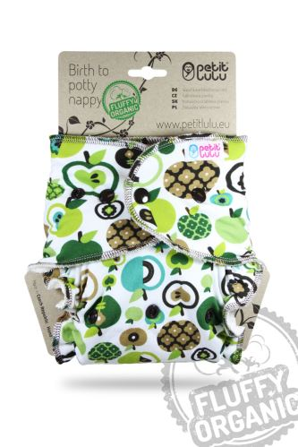 Second quality   Apples (Green) - Maxi Night Nappy (Snaps) - print fault