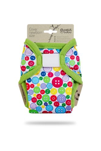 Sewing Buttons (Green Hem) - Newborn Cover
