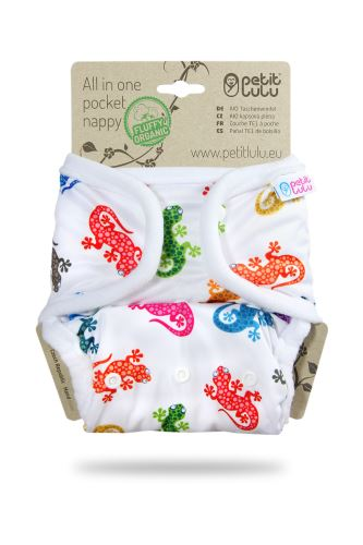 Geckos - All In One Pocket Nappy (Snaps)