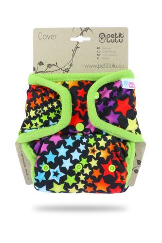 Second quality Rainbow Stars  - One Size Cover (Snaps) - small hole