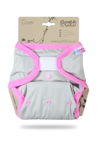Grey (pink) - One Size Cover (Hook & Loop)